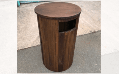 Wellington Round Timber Bin
